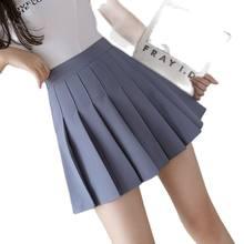 Meninas dança mini saias 2020 escola feminina primavera outono cintura alta estilo coreano saia plissada curto branco preto kawaii saias