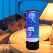 Lámpara LED de medusas para acuario, luz de noche junto a la cama, cambio de Color, tanque de medusas, luces de ambiente relajante, Lava, regalos para niños