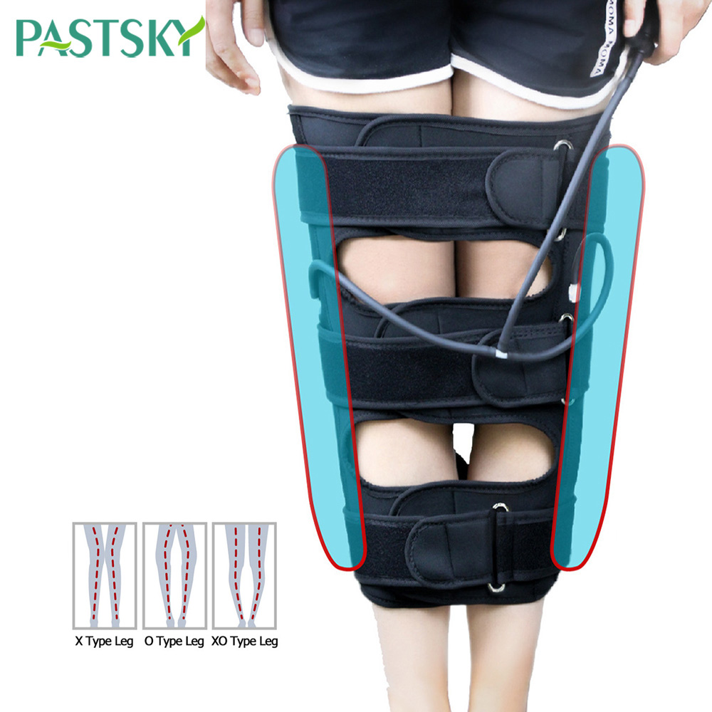 Inflated Leg Air Pressure Posture Belt X/O Type Corrector Knee 3 In 1 Elastic Adjustable Bandage Straps For Adult Child