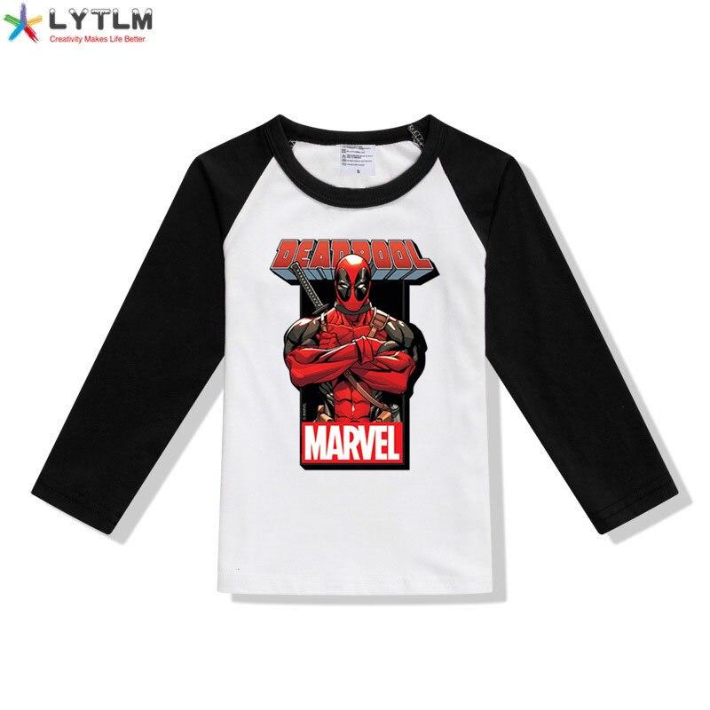 LYTLM Vintage Marvel chemise Deadpool t-shirt enfants super héros déguisement enfants Roupa Infantil Menina garçons hauts t-shirt Enfant Garcon