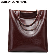 Cow Leather Bag Ladies Genuine Leather Handbags Big Women Bags Large Vintage Female New 2020 Office Shoulder Bags for women Tote
