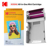 KODAK All-in-One Mini shot paper Cartridges set leverage 4Pass printing technology 20 40 50 100 photo printer package ink