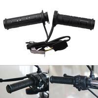 1 Pair 12V 12W 24W 22MM Adjustable temperature Motorcycle Handlebar Universal Electric Heated Handle Motorbike Heating Grips Set|Grips| |  -