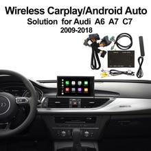 2019 Wireless CarPlay for 2012-2018  Audi A6 A7 C7 MMI 3G/3G+ MuItimedia Interface & Android auto Retrofit Kit
