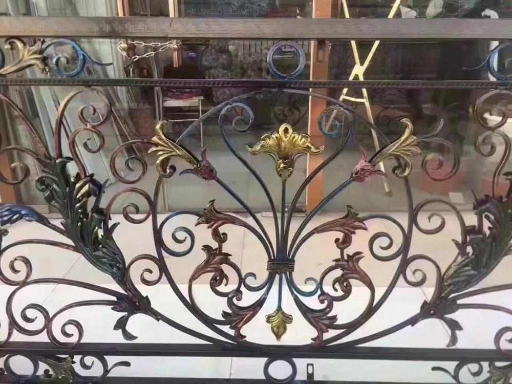Hench Shanghai Factory Curved Wrought Iron Stair Railings