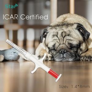 Image 3 - (60 pcs) 1.4*8 millimetri Animale Microchip RFID transponder Iso11784 Fdx b 134.2khz LF cat dog tags pet siringa per cat vet riparo uso