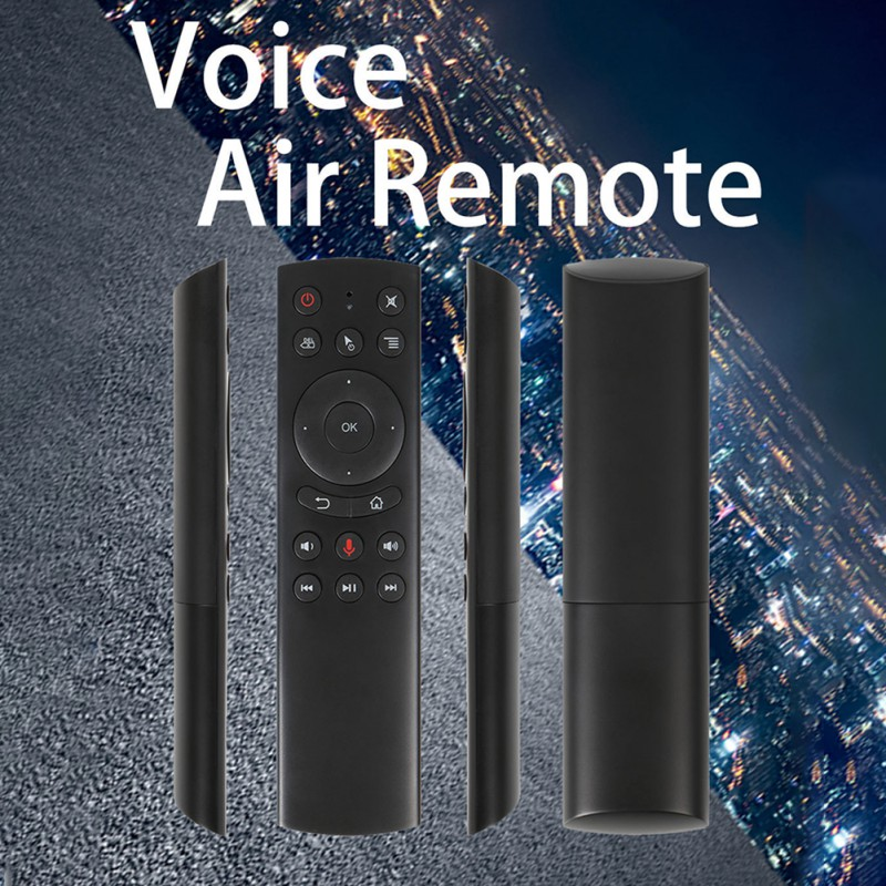 New G20 Voice Control 2.4G Wireless G20S Fly Air Mouse Gyro Keyboard Motion Sensing Mini Remote Control For Android TV Box image