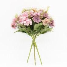 Искусственные цветы 15 головок аксессуары для украшения дома