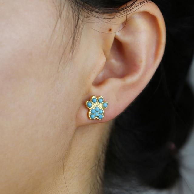 Dog Paw Earring 3