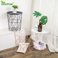 Modern Minimalist Flower Stand Flower Pot Holder Metal Storage Basket Wrought Iron Home Living Room Decoration Mini Coffee Table