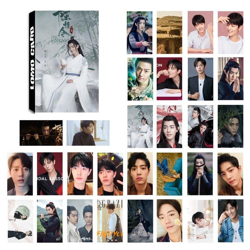 30 Sheets/Set Chen Qing Ling LOMO Card Mini Postcard Xiao Zhan Wang Yibo Star DIY Greeting Cards Message Card Gift