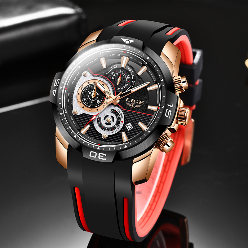 LIGE Men Watches Top Brand Luxury Business Quartz Watch Men Fashion Waterproof Date Chronograph WristWatch Relogio Masculino+Box
