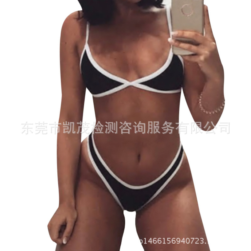 2018 Hot Selling Sexy Solid Color Swimming Trunks Women's Europe And America New Style Swimming Trunks
