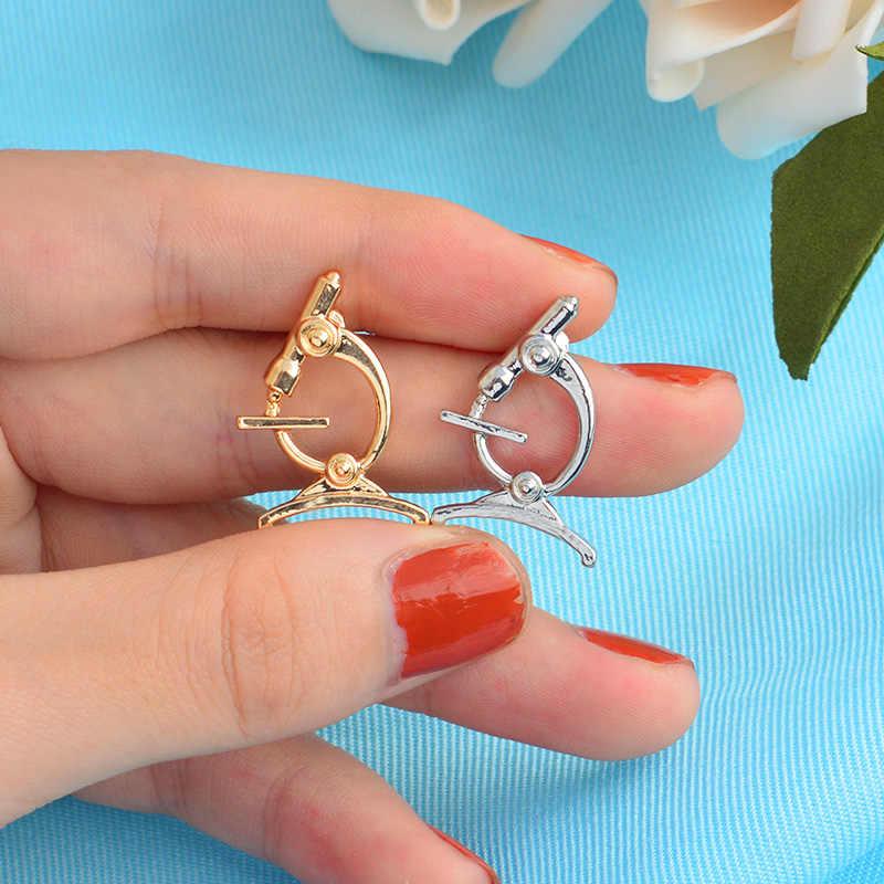 Medico pin Oro argento utero dente stomaco microscopio metallo perni zircon della perla badge spille pin del Risvolto Camicia sacchetto del regalo dei monili