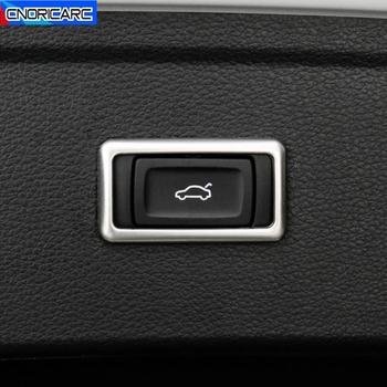 Car Electric Tail Door Switch Button Frame Decoration Decals For Audi Q5 FY 2018 2019 Stainless Steel Interior Accessories image