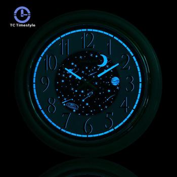 Creative Wall Clock Blue Star River Living Room Bedroom Modern Clock Simple Fashion Round Mute Quartz Home Decoration