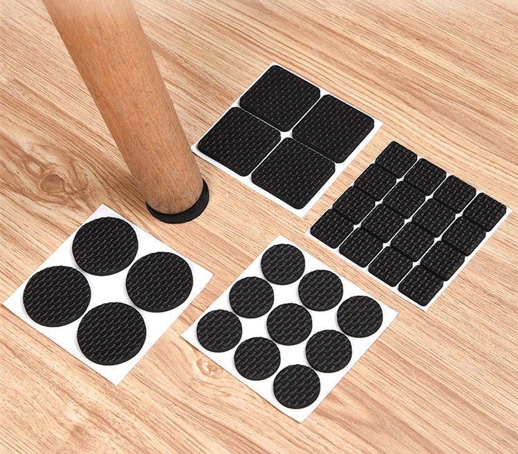 32Pcs White Self Adhesive Furniture Chair Protectors Feet Leg Pads Caps Floor Table Covers For 20-90MM Square Round Non-slip Mat