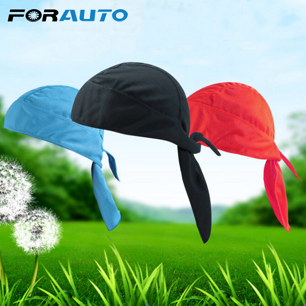FORAUTO Bike Cycling Headband Under Helmet Riding Cap Motorcycle Accessories Multifunction Breathable Quick Dry Half Head Scarf