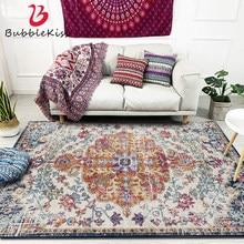 Bolha beijo estilo nórdico tapetes para sala de estar quarto moda tapete decorativo boêmio padrão flor cabeceira área
