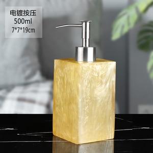Image 5 - 400/500/800ml Creative Resin Dispenser Marble Texture Hand Sanitizer Bottle Hotel Soap Preser Shampoo Shower Gel Empty Bottle