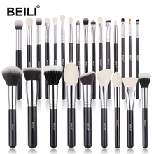 BEILI Black Goat hair Professional Makeup Brushes set Foundation Concealer Eyeshadow Blending Cosmetic Brush pinceaux maquillage