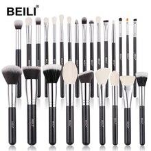 Beili Zwart Geitenhaar Professionele Make Up Kwasten Set Foundation Concealer Oogschaduw Blending Cosmetische Borstel Pinceaux Maquillage