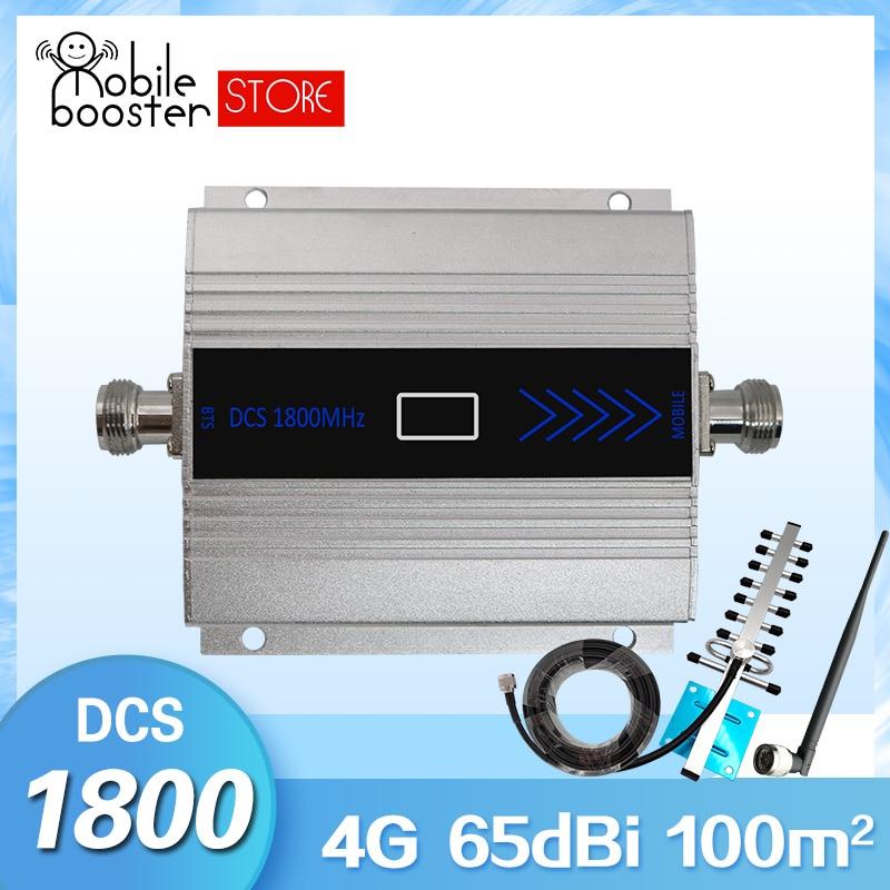 Amplificateur de Signal 4G Booster cellulaire 4g amplificateur de signal gsm 1800 2G/4G amplificateur de signal cellulaire booster de Signal mobile + Kit d'antenne