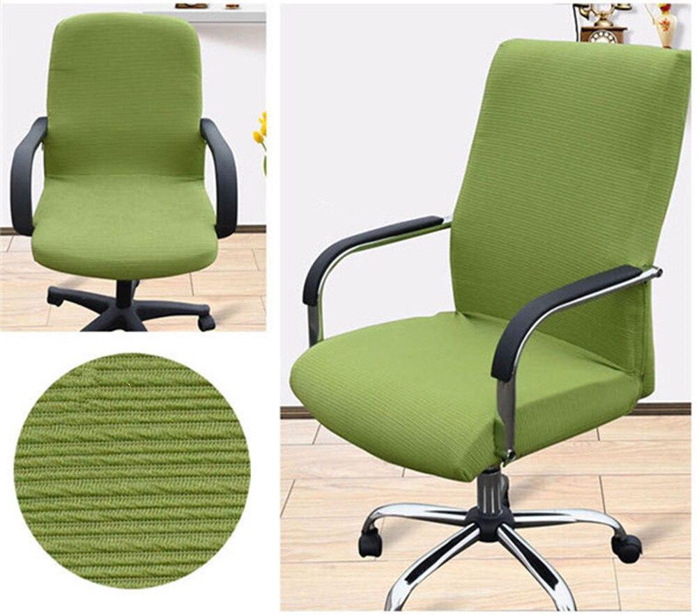 Moderne rotatif ordinateur Chaise couverture 100% Polyester élastique tissu bureau Chaise couverture 4 taille lavable Recouvre Chaise Stretch