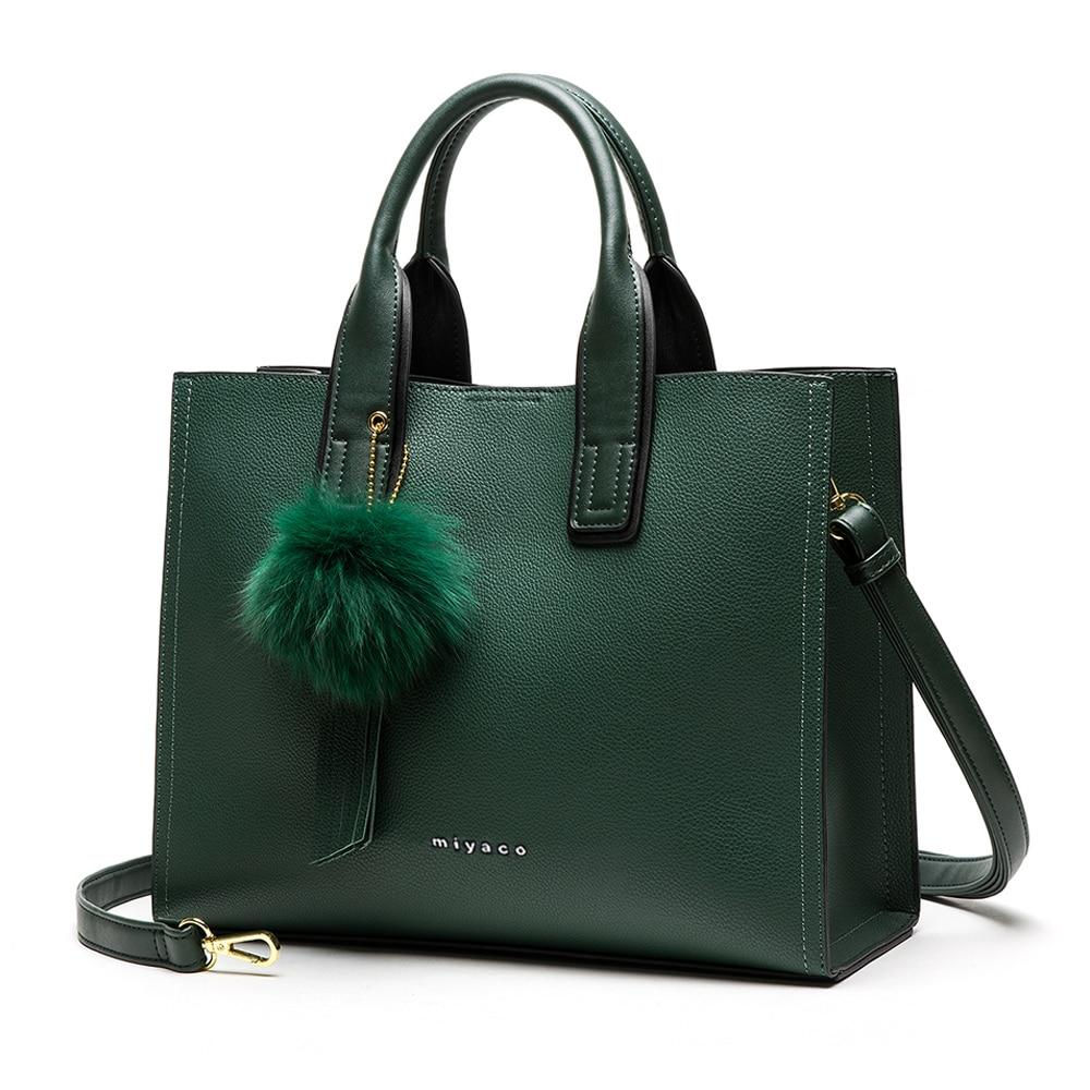 Miyaco Брендовые женские сумки, женские сумочки, Классические Кожаные Сумки для дам, сумки с верхней ручкой, модная женская сумка, новинка 2021