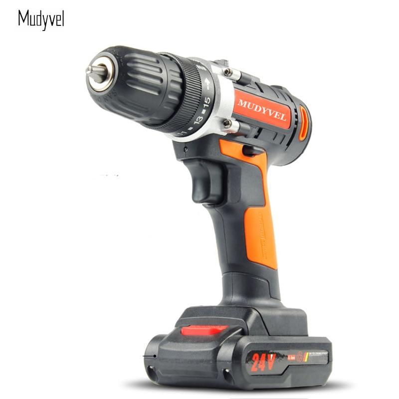 Cordless drill 12V 16.8V 24V Rechargeable Lithium battery Flexible shaft Screwdriver Power tools Dremel 2 speed Mini Drill
