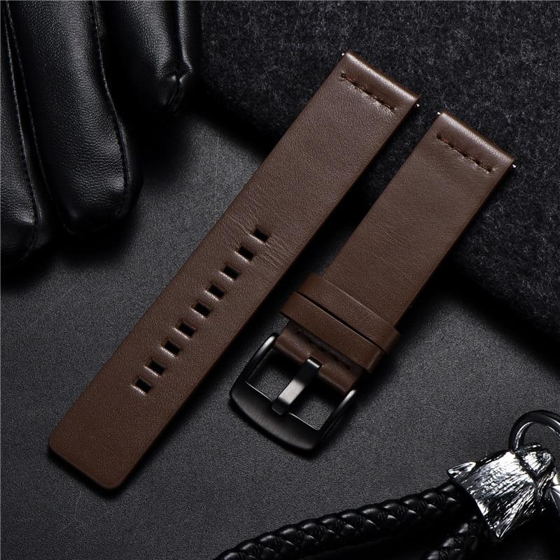 Echtes Leder Strap für Samsung Galaxy Getriebe S3 Uhr Armband für Sport Smart Uhr Schnelle Release Uhrenarmbänder 18 20 22 24mm