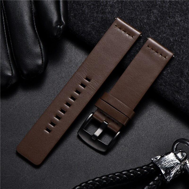Pulseira de couro genuíno para samsung galaxy gear s3 relógio pulseira para esporte relógio inteligente liberação rápida pulseiras 18 20 22 24mm