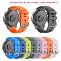 Cinturino di ricambio in Silicone ANBEST 20mm per cinturino Vivomove 3S 44mm, cinturino sportivo per Gear Sport/Forerunner 245 Smartwatch