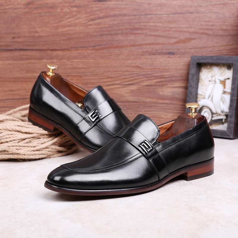 Image 3 - Desai Male Shoes Genuine Leather 2020 New Metal Decoration  Leather Handmade Soft Comforable Leather Men Loafers Causal ShoesMens  Casual Shoes