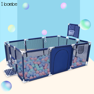 Kids Ball Pool Baby Playpen Children Ball Pool Safety Barrier Foldable Kids Football Basketball Field Playpen Fence For Child