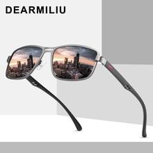 DEARMILIU 2020 New Fashion Sunglasses Men Polarized Square Metal Frame Male Sun Glasses Driving Fishing Eyewear zonnebril heren