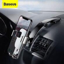 Baseus הכבידה רכב טלפון מחזיק עבור iPhone 11 פרו מקס סמסונג רכב הר מחזיק עבור הטלפון סלולרי מכונית נייד מחזיק טלפון Stand