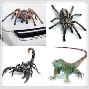 3D Car Sticker Animals Spider Vinyl Decal for BMW E34 F10 F20 E92 E38 E91 E53 E70 X5 M M3 E46 E39 E38 E90 M140i 530i 128i image