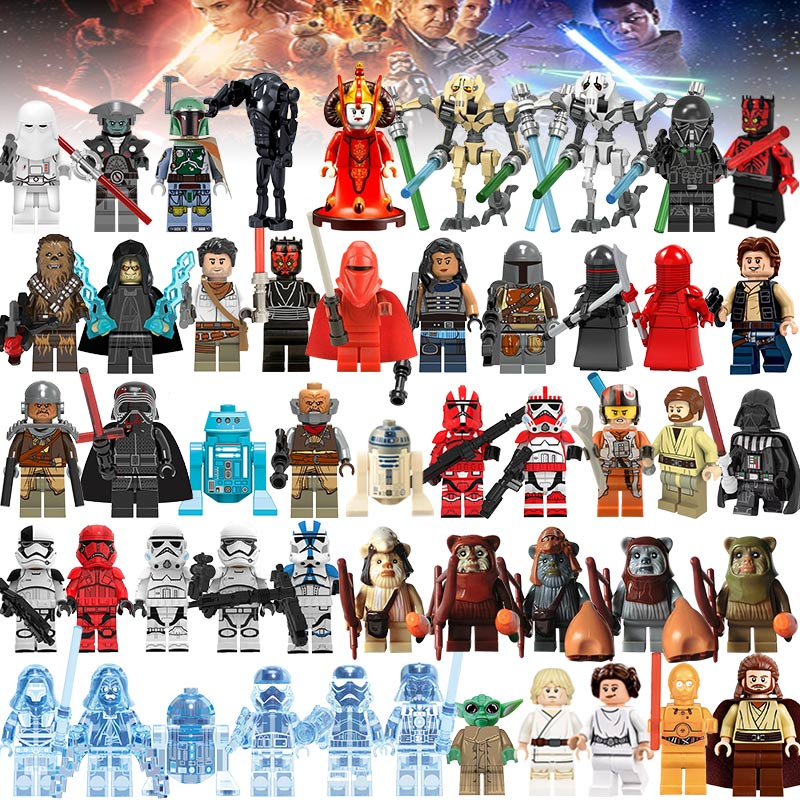 45pcs/lot Building Block LegoINGlys Starwars Jedi Yoda Obi-Wan Figures Darth Storm Han Solo Anakin Kids Star Wars Toy