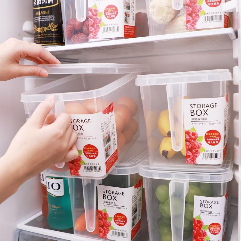 Refrigerator storage box transparent rectangular drawer-type egg box refrigerator kitchen storage fresh plastic storage box