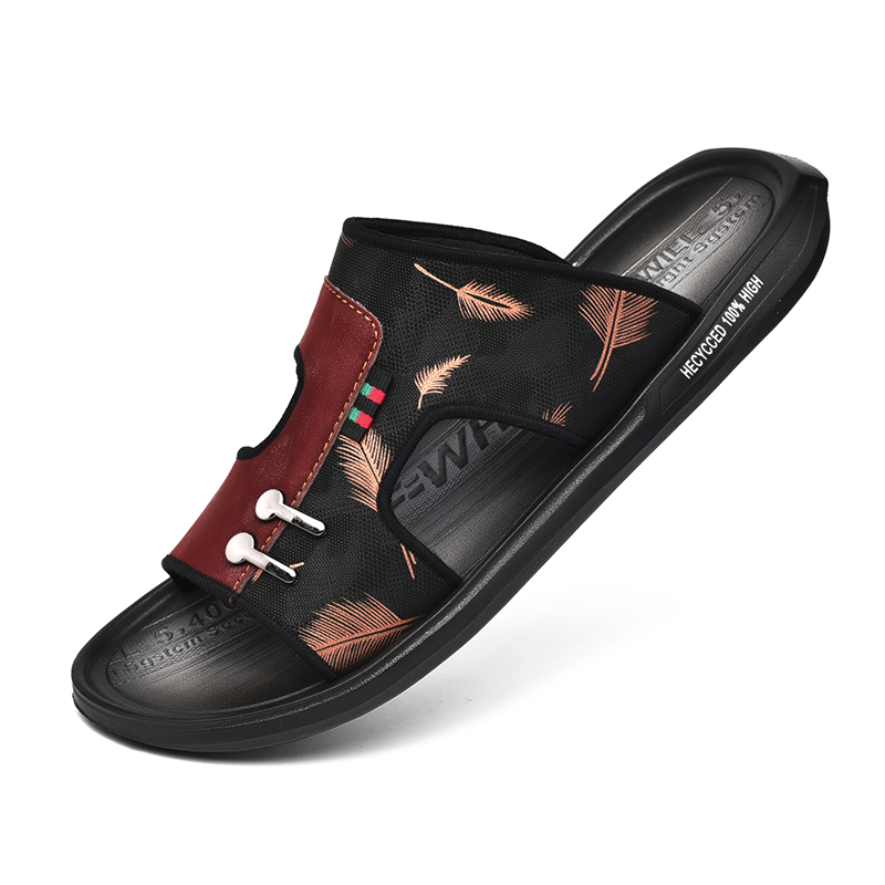 Slippers Men Summer Flat Sandals Casual Beach Flip Flop Men Non-slip Indoor House Home Slipper Male Size 48 Zapatillas De Hombre