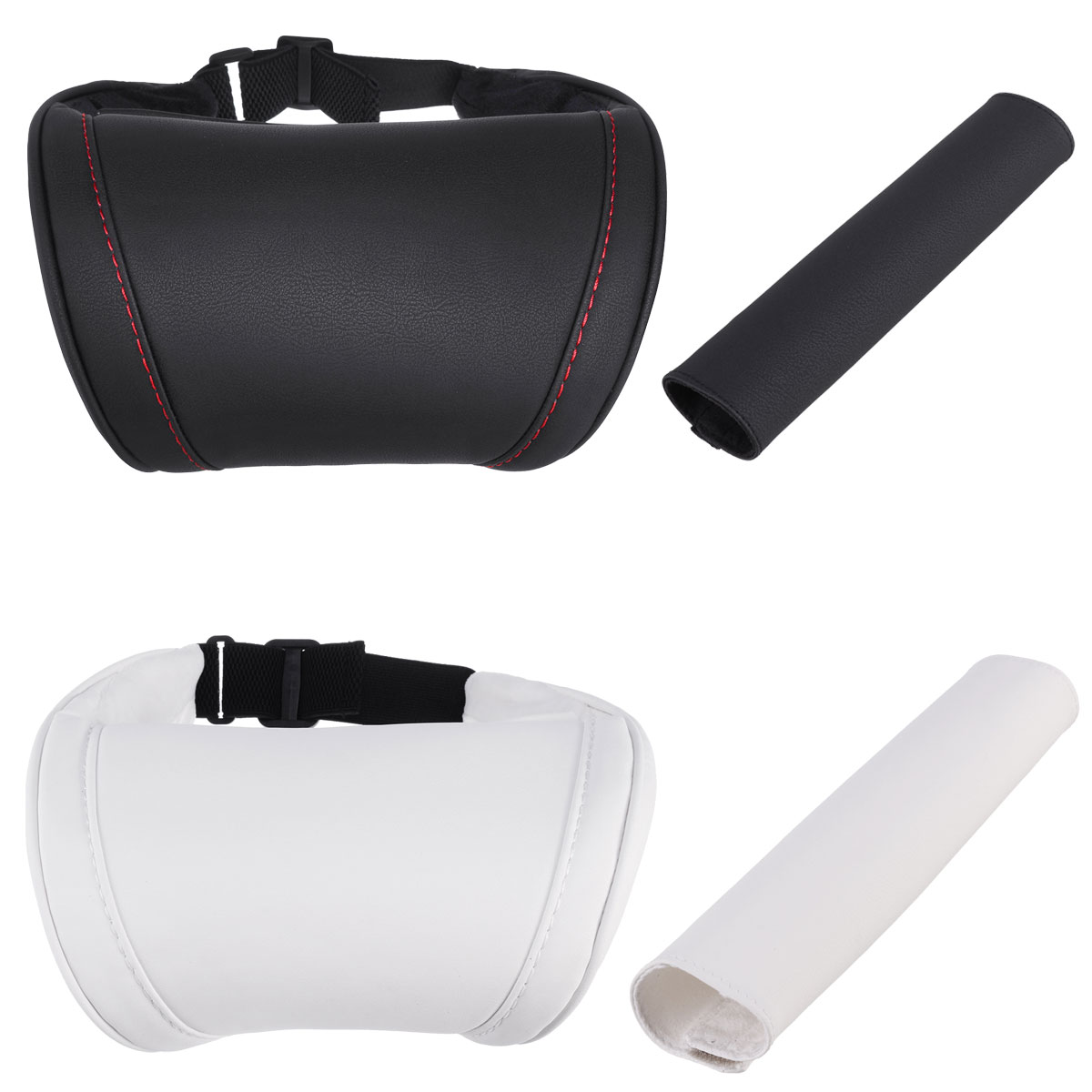 Car Pillows Headrest Neck Rest Cushion Support Seat Accessories Black White Safety Pillow For Tesla