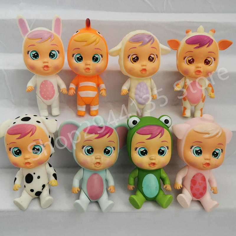 4pcs Cry Babies Dolls LOLs unicorn Baby boy Girl Toys Children doll It will shed tears Birthday gift for children(China)