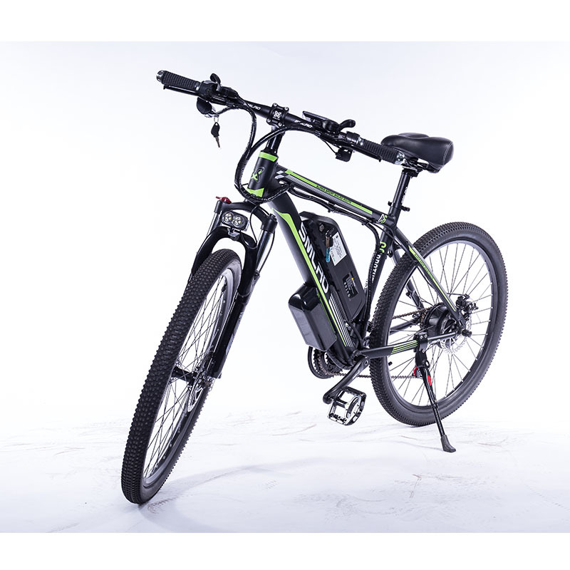 """C6 F 26""""Electric Bike with Removable 48V Lithium-Ion Battery Electric Mountain Bike Adult 350W Powerful Motor Fast Battery 4"""