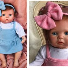 silicone reborn baby dolls girls boys 15inches Twin sisters mini dolls Lifelike Alive Babies Doll To