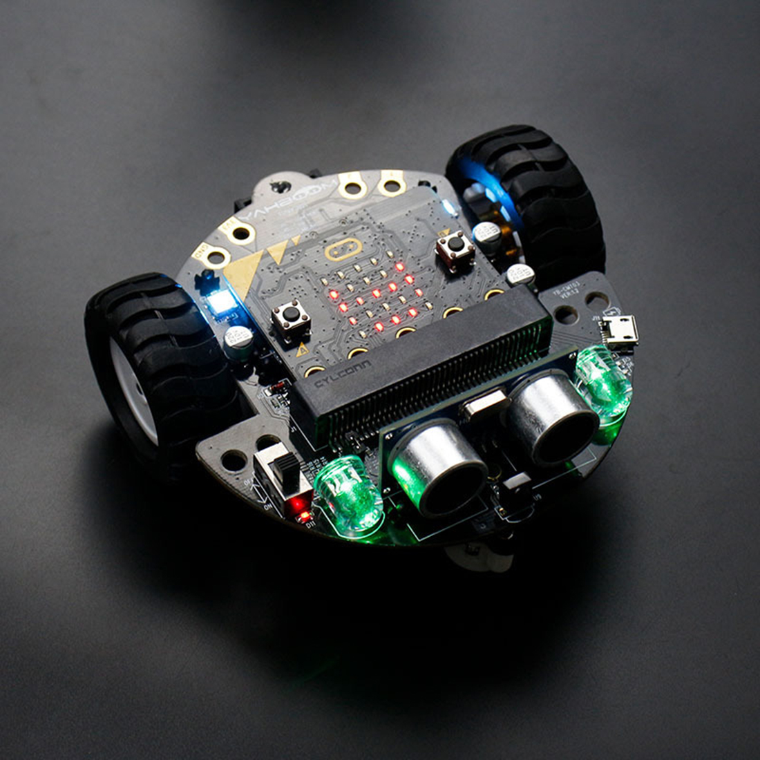 DIY Obstacle Avoidance Smart Programmable Robot Car Educational Learning Kit without Mainboard for Micro:bit Gift for Children 1