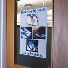 A3 Glass Door Notice Poster Cover Wall Mount Sign Holder Hanger File Document Pocket