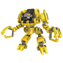 цены XINGBAO New Creative 20001 Building Blocks Compatible LOGO Deformation Robot Series MOC Bricks Double shape Car And robot 2 in 1