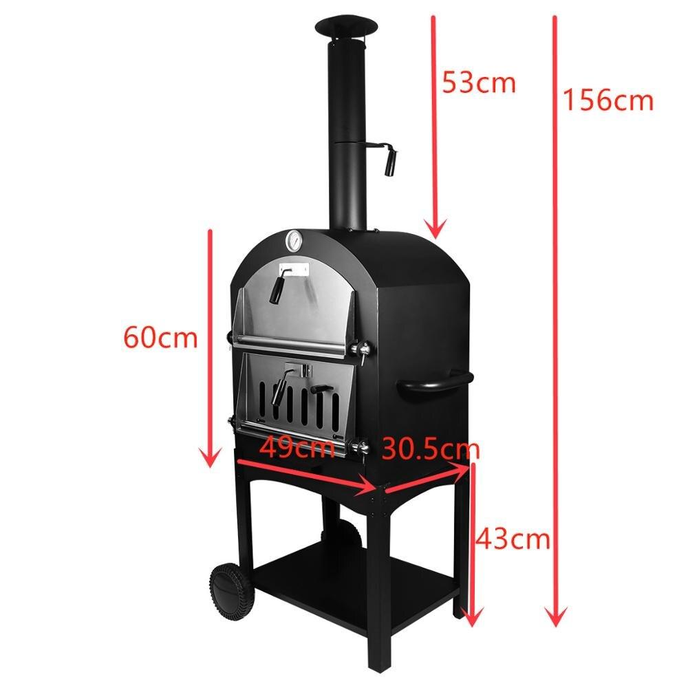 Forno de pizza de aço inoxidável ao ar livre usado madeira ateada fogo delicioso fabricante pizza fogão - 4