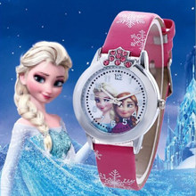 Crianças dos desenhos animados relógio elsa princesa crianças relógios de pulso relógio de quartzo para meninas presentes meninos criança relogios reloj zegarek enfant